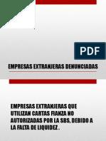 EMPRESAS EXTRANJERAS DENUNCIADAS