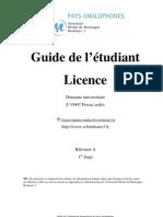 Guide Licence Anglais