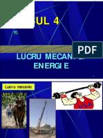 Lucrul Mecanic Energie