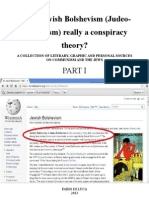 Is the Jewish Bolshevism - Judeo-Bolshevism - Really a Conspiracy Theory Part I