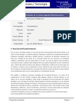 Programas de Estudio Maquinas Termicas I Carrera Ing Electromecánica-2013