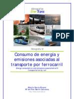Consumo de energía y emisiones asociadas al transporte por ferrocarril