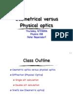 9-7 Geometrical vs Physical Optics