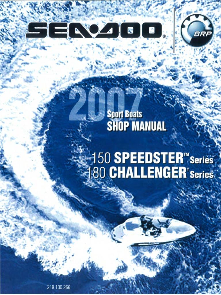 seadoo 07 speedster 150 challenger 180 boats pdf | throttle | rotating  machines