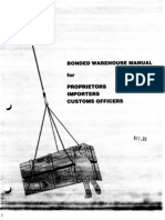 Bonded Warehouse Manual