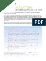 6 Tips / 6 Dicas para Email Marketing