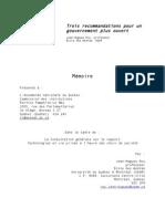 Mémoire Commission institutions sur accès info (Jean-Hugues Roy)