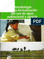 Formalizacion de Uso de Agua