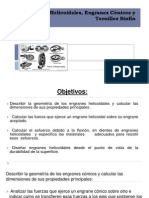 Engranes Helicoidales, Engranes Conicos y Tornillos Sinfin