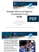 Strategic Efforts and Regional Coordination in the Pacific SNaidu