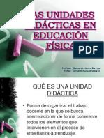 PPT 8. La E. F. y su Didáctica. La Unidad Didáctica