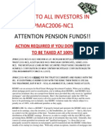 INVESTMENT SCAM-ATTENTION PENSION FUNDS AND INVESTORS