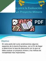 14 - Finanzas para la evaluación de un proyecto minero