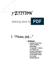 Prayer of Petition- Religion Powerpoint