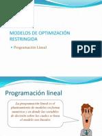 (4) Modelos de Optimización