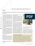 The Health of Private Biotech in 2012