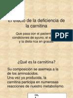El Efecto de La Deficiencia de La Carnitina