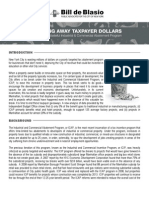 Throwing Away Taxpayer Dollars
