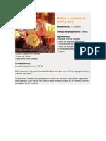 Muffins o Pastelitos de Avena y Pera