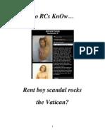 Do RCs KnOw Rent-Boy-Gigilo Scandal Rocks Vatican's Bedrooms?