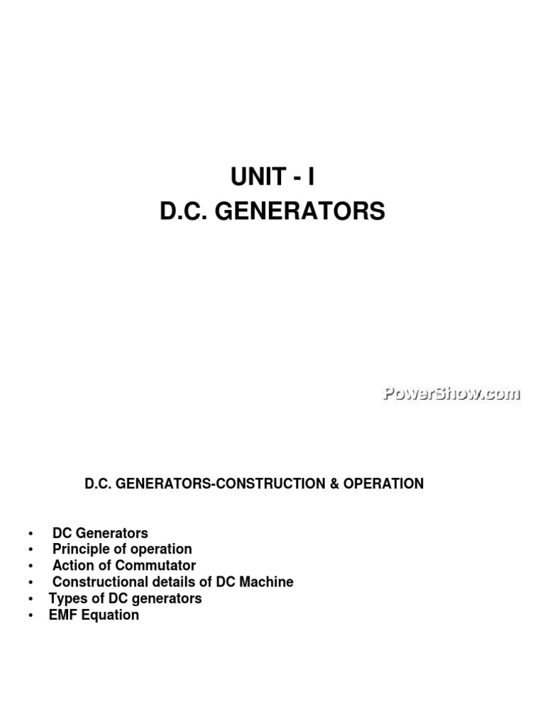 Dc Generators Ppt 3974378rujuk Electromagnetic Induction Types Of Electric Generator