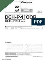 Pioneer Deh p4100r,p3110