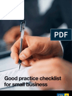 Good Practice Checklist Small Business