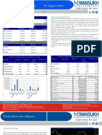 Derivative 07 August 2013  By Mansukh Investment and Trading Solution