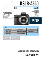 Sony Dslr-A350 Service Manual Ver 1.8