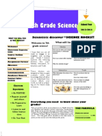 Grade 7 Opening Day Handout 2013-2014