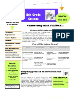 Grade 8 Opening Day Handout 2013-2014