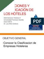 Definiciones y Clasificación de los Hoteles