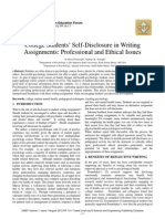 College Students' Self-Disclosure in Writing Assignments