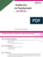 Analiza Cen Imprez Turystycznych (06.08.13)