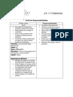 Perfil y Respnsabilidades Paginas Wb