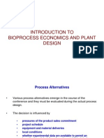 BTech Bioprocess Economics introduction