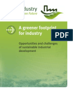 A greener footprint for industry - Opportunities and challenges of sustainable industrial development (UNIDO – 2009)