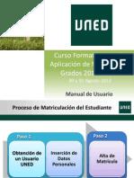 Manual Matricula 2012