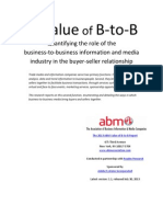 TheValue of B‐to‐B