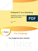 Enterprise IT on a Shoestring_SolsticeConsulting_2009