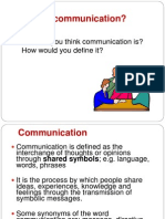 1. What is Communication