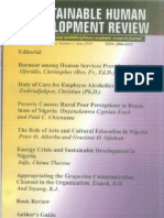Sustainable human development review