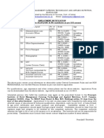 Advertisement and Proforma for Various Posts