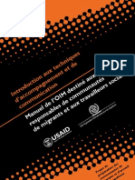 Introduction aux techniques d'accompagnement et de communication - Manuel de l'OIM destiné aux responsables de communautés de migrants et aux travailleurs sociaux (2009)