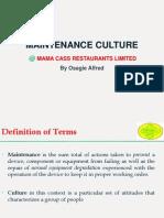 Maintenance Culture