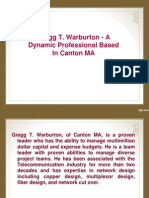 Gregg T. Warburton Is A Dynamic Professional Based In Canton MA