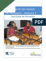 LA VIABILITE DES RADIOS DE PROXIMITE – MODULE 3 - Une Guide de Formation (Radio for Peacebuilding Africa, SFCG – 2010)