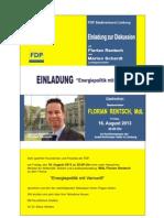 Einladung Florian Rentsch