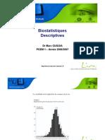 Biostatistiques Descriptives Dr Marc CUGGIA 1ere Annee Univ Rennes