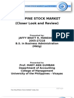 Philippine Stock Market Analysis